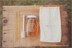 honey wedding favors (Totally did this at our wedding. It symbolizes wishes of health and prosperity to your guests.)