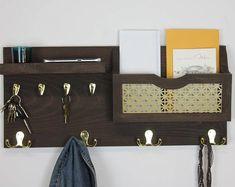 Modern Rustic Decor, Modern Entryway, Entryway Ideas, Entryway Decor, Foyer, Mail And Key Holder, Mail Holder, Key Shelf, Magnetic Key Holder