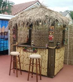 Backyard Bar, Patio Bar, Tiki Bars, Pool Bar, Outdoor Tiki Bar, Outdoor Bars, Diy Garden Bar, Bar Shed, Tiki Bar Decor