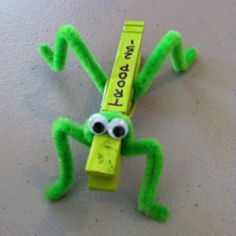 Can see this made with a mini clothes pin too!  Uber cute.