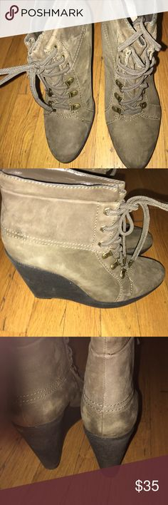 Boutique 9 Wedge ankle boots Excellent condition. Olive Suede Boutique 9 Shoes Ankle Boots & Booties