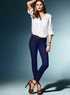 Lacivert pantolon, beyaz gömlek 2016