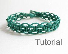 Macrame bracelet instructions pattern pdf by Knotonlyknots on Etsy