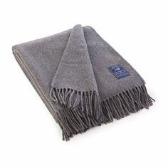 Lexington Company Icons Solid Wool Throw, Gray  | The Organizing Store #lexingtoncompany
