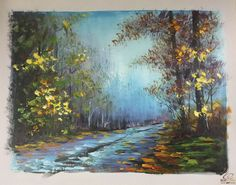 ABSTRACT CANVAS OIL PAINTING WALL ART DECOR HAND PAINTED LANDSCAPE ZO60 00430 #ZL #OilPainting