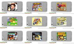 N64 Game Cartridge Several games to choose from by DsCustomCases