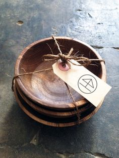 walnut wood snack bowls