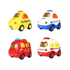 SainSmart Jr Friction Powered Push and Go Mini Car with Screen Button for Light and Music 4 Set * You can find out more details at the link of the image.Note:It is affiliate link to Amazon.