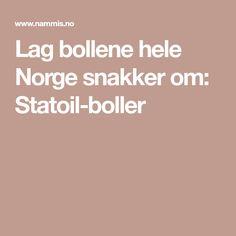 Lag bollene hele Norge snakker om: Statoil-boller Cloud Bread, Bread Baking, Winter Holidays, Food And Drink, Om, Recipes, Cakes, Baking, Flourless Bread