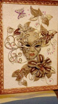 Одноклассники String Crafts, Burlap Crafts, String Art, Quilling Designs, Quilling Art, Sisal, Butterfly Mask, Ceramic Mask, Bobbin Lacemaking