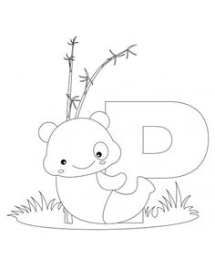 animal alphabet letters to print and color letter P for Panda.Printable Animal Alphabet Letter P for Panda.Animal alphabet letters to print and color letter P free online activities worksheets for.