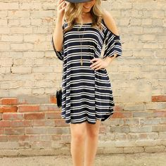 >> Click to Buy << Vestidos Summer Women Dress White Blue Stripe Casual Party Dresses Half Sleeve Loose Beach Dress Plus Size XL Robe Ete #Affiliate