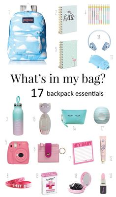 Whats in my backpack? High School Backpack Essentials