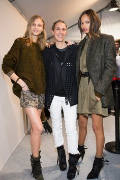 backstage with Isabel Marant