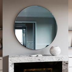 Blue Glass Wall Mirror