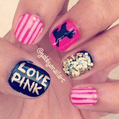 Victoria's Secret  by gabbysnailart  #nail #nails #nailart