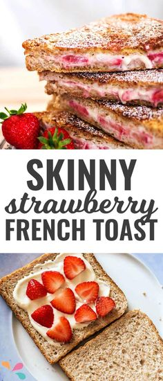 Stuffed french toast made healthy! You will love the cinnamon coating, plus this is super easy to make! Brunch Dishes, Brunch Recipes, Breakfast Recipes, Paleo Breakfast, Brunch Ideas, Breakfast Casserole, Breakfast Ideas, Healthy Breakfast Choices, Breakfast Time