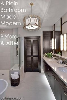 Before and After - Modern Master #Bathroom #Remodel