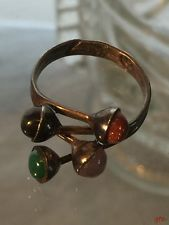 VINTAGE TAXCO MEXICO GEMSTONE 925 STERLING RING SIZE 8