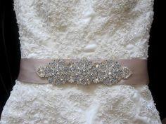 Wedding Dress Crystal Belt Embellished Sash Belt by Tatishotties, $150.00