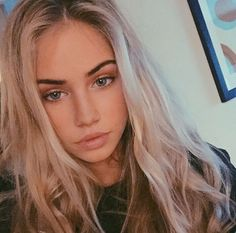 Scarlett Leithold uploaded by Sky Young on We Heart It All Things Beauty, Beauty Make Up, Hair Beauty, Blonde Beauty, Scarlett Rose, My Hairstyle, Looks Style, Skin Makeup, Makeup Haul