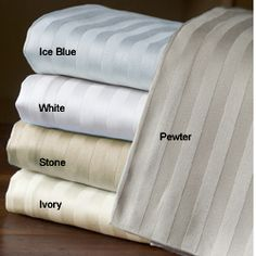@Overstock - Enjoy a luxurious night of sleep on new sheets  Set includes flat sheet, fitted sheet and two pillowcases   Bedding is available in stone, pewter, ivory, ice blue and white color optionshttp://www.overstock.com/Bedding-Bath/Egyptian-Cotton-800-Thread-Count-Striped-Sheet-Set/3684347/product.html?CID=214117 $87.99