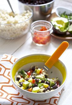Fiesta Bowl for Toddlers - Baby Foode Healthy Toddler Meals, Toddler Snacks, Healthy Work Snacks, Kids Meals, Easy Meals, Baby Snacks, Baby Foods, Toddler Menu, Healthy Children