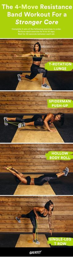 4-Move Resistance Band Workout for a Stronger Core | Posted By: AdvancedWeightLossTips.com