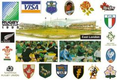 Commemorative postcard of the World Cup Rugby Tournament 1995 sent to Australia.