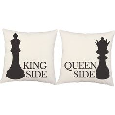 Checkmate Throw Pillows - Set of 2