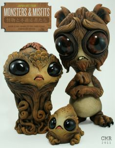 Beautiful weird creatures by Chris Ryniak for the Monsters & Misfits show 2011
