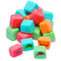 Trolli Sour Brite Blasts Gummy Juicy Exploding Candy Cubes: 3LB Box Sour Gummy Bears, Sour Gummy Worms, Jolly Rancher Hard Candy, Fruit Chews, Online Candy Store, Sour Candy, Raspberry, Chocolate, Cubes