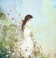 美丽盛放 ~ 韩国插画师endmion1作品
