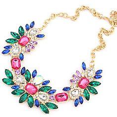 europæisk stil blomst erklæring halskæde