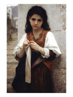The Little Knitter    By William Adolphe Bouguereau