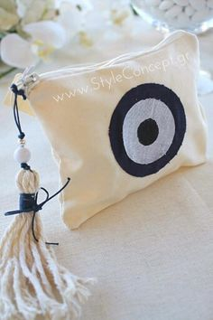 #Evileyeprotection on this purse made to be an original #Greek #favor either for a #wedding or a #baptism