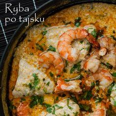 Danie to zachwyca zarówno egzotycznym smakiem jak i żywymi kolorami! Ryba uduszona w sosie z mleka kokosowego doprawionego czerwoną pastą curry oraz kolendrą jest delikatna i aromatyczna. Rolę krop...