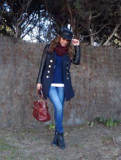 9254cefc8 15 mejores imágenes de Abrigo azul marino outfit | Woman fashion ...