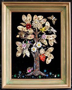 Framed Jewelry Tree and Snail. $65.00, via Etsy.