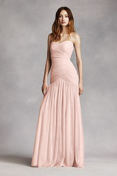 Strapless Bobbin Net Gown with Sweetheart Neckline VW360154