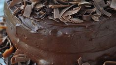 Chocolate Cake | Made with butter instead of oil, and 1c strong coffee instead of boiling water. Delicious!