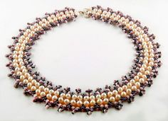Free pattern for necklace Anetta