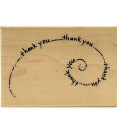 Stampendous Rubber Stamp-Thank you Swirl: stamps: stamping…