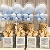 Happiest birthday to little Vazgen beautiful cake and desserts by rentals cutout… Baby Shower Decorations For Boys, Boy Baby Shower Themes, Baby Shower Balloons, Baby Shower Gender Reveal, Baby Shower Centerpieces, Baby Boy Shower, Teddy Bear Centerpieces, Deco Baby Shower, Bridal Shower