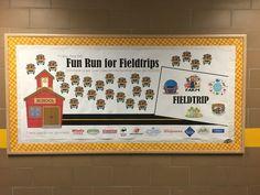 Fun Run Bulletin Board
