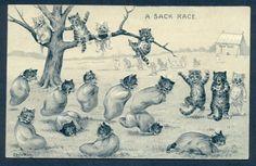 A Sack Race  | Louis WAIN