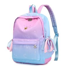 Scione Women Printing Backpacks Gradient Color School Bags For Teenage Girls School Shoulder Bags Waterproof Bookbag Mochila Outfit Accessories From Touchy Style. Leather Backpacks For Girls, Cute Mini Backpacks, Stylish Backpacks, Girl Backpacks, School Backpacks, Cute School Bags, School Bags For Girls, Girls Bags, School Children
