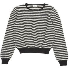 Pre-owned Saint Laurent Wool Jumper (435 CAD) ❤ liked on Polyvore featuring tops, sweaters, black, women clothing knitwear, woolen jumper, wool tops, jumper top, woolen sweater and jumpers sweaters