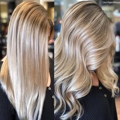 """3,242 Likes, 44 Comments - Amy (@camouflageandbalayage) on Instagram: """"Straight Balayage vs Wavy Straight shows how seamless it is and Wavy brings it to life and shows…"""""""