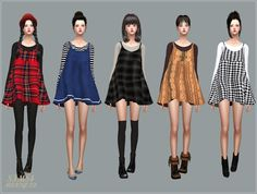 Sims 4 CC's - The Best: Dress and Accessory Shirts by Marigold